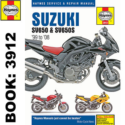 Suzuki SV650 SV650S K1-K8 1999-2008 Haynes Workshop Manual