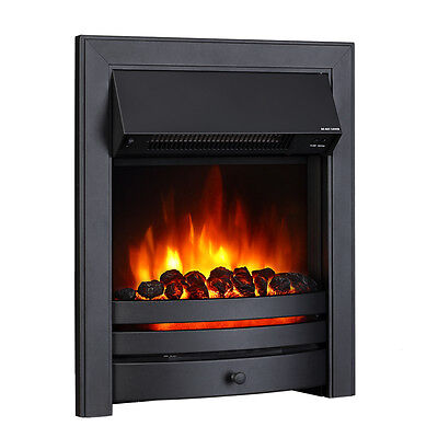 Endeavour Fires Roxby Inset Electric Fire, Black Trim and Fret, Remote control