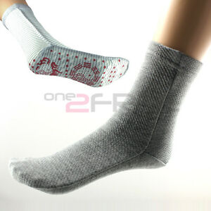New-Power-Health-F-I-R-Heat-Magnetic-Fiber-Therapy-Arthritis-Gray-Thick-Socks