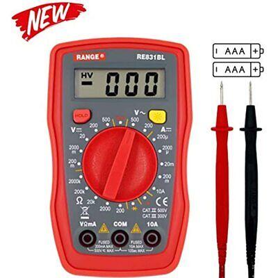Re831bl Palm Size Digital Multimeter Handheld Ac Dc Voltage Ohm Tester Metercat