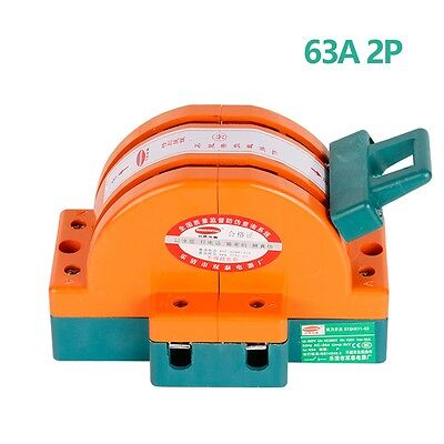 Heavy Duty 63a Two Poles Double Throw Knife Disconnect Switch Safety Blade