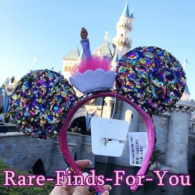 Mouse Ear Headband (Disney Parks Minnie Mouse Ear Birthday Confetti Cupcake Sequin Headband)