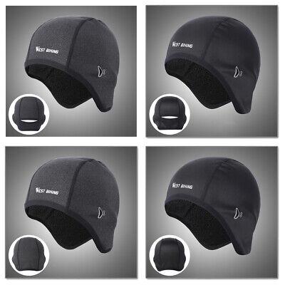 Herren Damen Thermo unter Helm Hut Fahrrad Mountainbike Winter Warm Windfest Cap