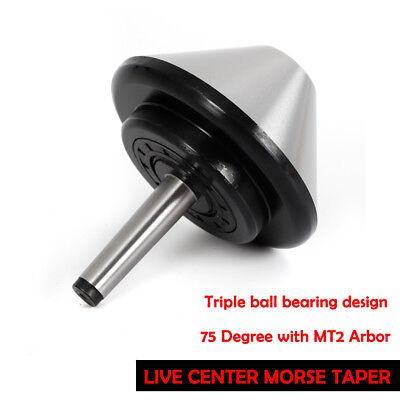 New Live Center 4.66 Mt2 Bull Nose Live Center Morse Taper 2 Bearing Center