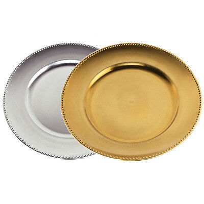 Round Charger Plates Table Settings Centerpiece, 13-Inch