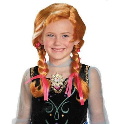 Disney Rot Eiskönigin Anna's Kinder Perücke Halloween - Rote Königin Kostüm Zubehör