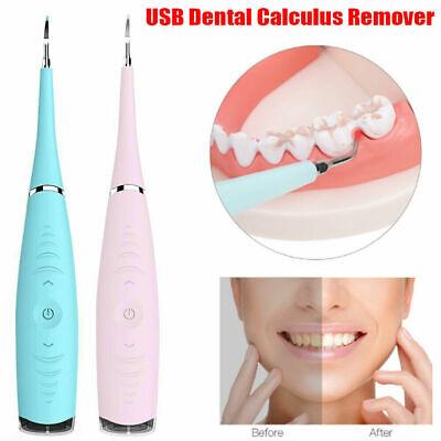 Ultrasonic Dental Scaler Tooth Whitening Tartar Plaque Remover Usb Teeth Cleaner