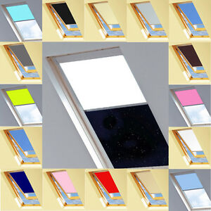 blackout thermal skylight roller roofblind for velux windows ebay. Black Bedroom Furniture Sets. Home Design Ideas