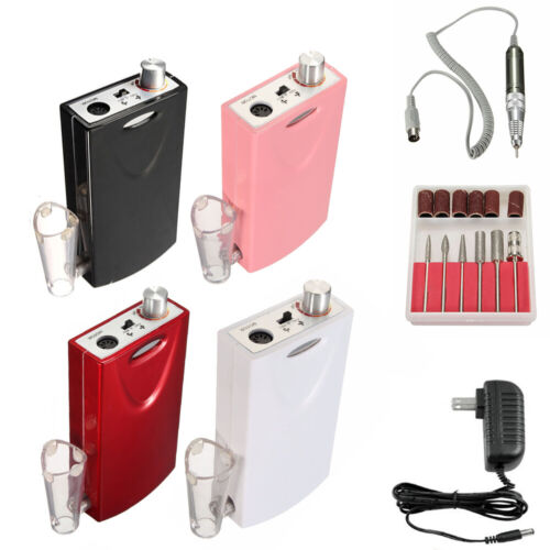 Portable Cordless Nail Drill File Rechargeable Electric Manicure Machine Set
