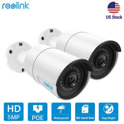 5MP 1920P PoE IP Security Camera Video Audio Waterproof Reolink RLC-410 (2-Pack) 2 Mp Camera Video