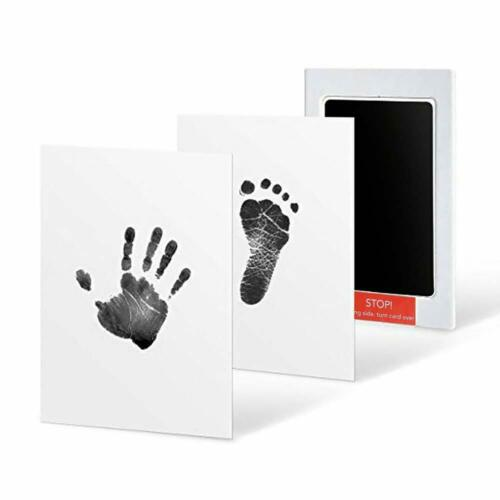 Baby Safe Print Ink Pad Touch Nontoxic  Inkless Footprint Handprint Kit Black US