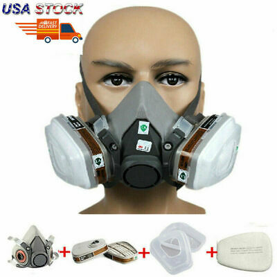 7 In 1 Safety Facepiece Painting Spraying For 6200 Half Face Gas Mask Respirator