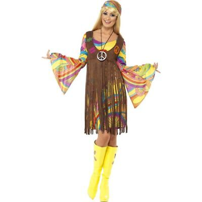 Smi - 60er Jahre Damen Kostüm Hippie Karneval Fasching Party (60er Jahre Kostüme)