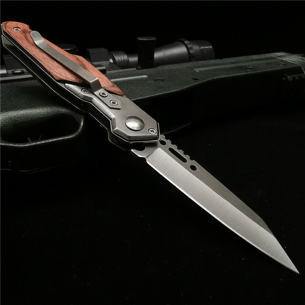 Assisted Open Knives Pocket Folding Blade Camping Tactical H