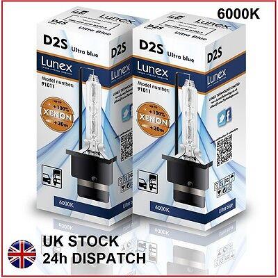 2 x D2S Genuine LUNEX XENON BULB 6000K HID compatible 85122 66040 66240 53500 UB