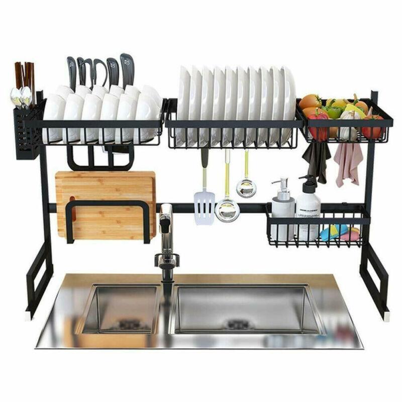 Dish Drying Rack Over Sink Kitchen Supplies Storage Shelf Co