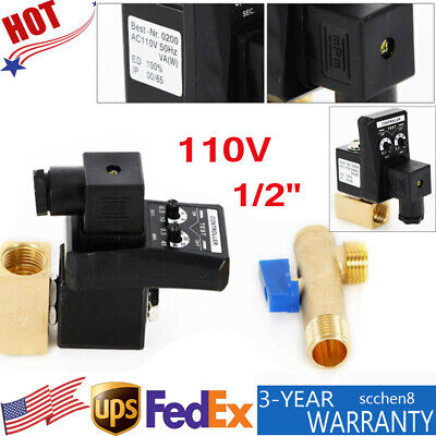 12 Timing Auto Drain Valve 2 Way Direct-acting Air Compressor Gas Tank Ac 110v