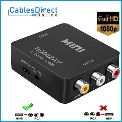 HDMI to RCA Composite Converter Audio Video CVBS AV Adapter HD TV 1080P FHD