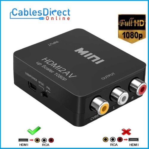 HDMI to RCA Composite Converter Audio Video CVBS AV Adapter HD TV 1080P FHD
