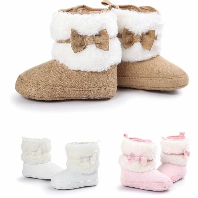 Neugeboren Bebe Kleinkind Bottes Chaudes Baby Schuhe Winter Prewalker Bowknot
