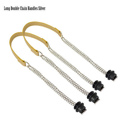 Long Double Handles (1 Pair Long Double Chain OT T OBag Handles with screw For Obag Shoulder)