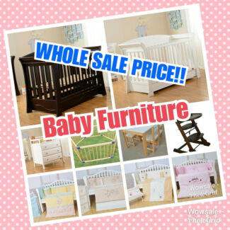Brand New Wooden Baby Cot Mattress,3/4 Drawers CHANGE TABLE