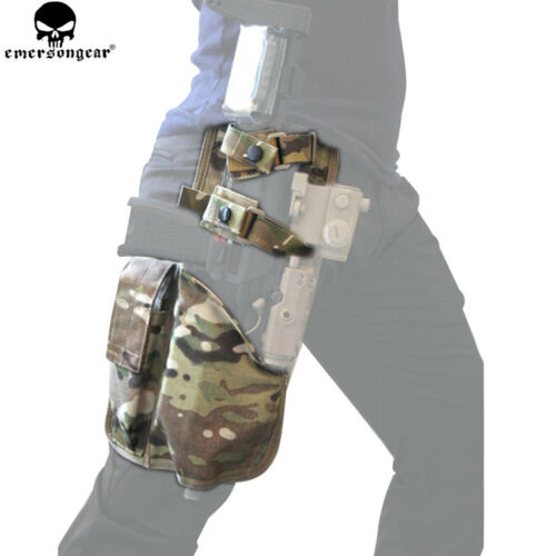Tactical Drop Leg Holster Magazine Pouch MP7 Pistol Right Hand Thigh Rig Holster
