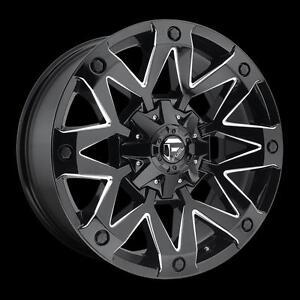 "20"" Wheels Set Silverado Tahoe Suburban GMC Sierra Yukon 6x139.7 Ford F150 6x135 Mag Fuel D555 Roue Mag 20"