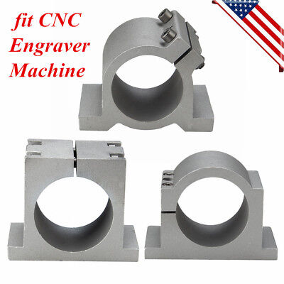65mm80mm Diameter Spindle Motor Mount Bracket Clamp Fit Cnc Router Engraver Us