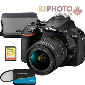 D5600  NIKKOR AF-P 18-55mm VR Kit Black +BUNDLE special