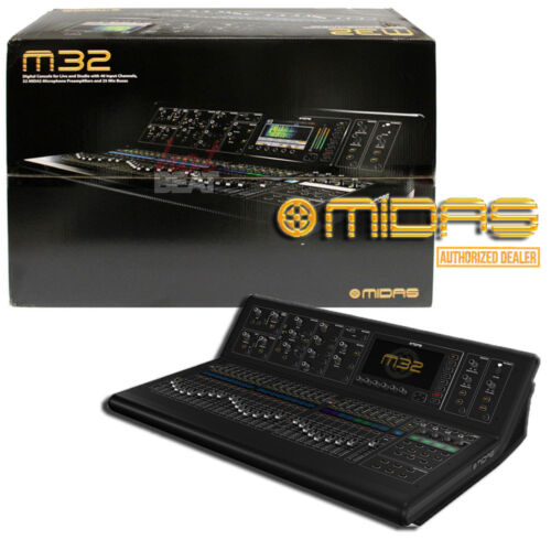 Midas M32 Full Sized Mixer Live Performance Studio Mixing Console M32ip