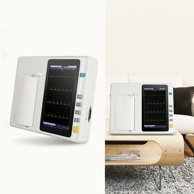 7digital 6channel 12 Lead Electrocardiograph System Ecgekg Machine Ce Fda