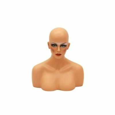 Adult Female Realistic Mannequin Head Bust Display With Facial Features