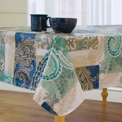 Madison Vinyl Tablecloth 60 X 102 Oblong Flannel Backing NEW
