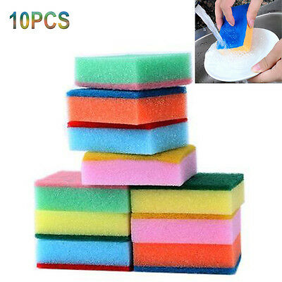 10PCS Cleaning Sponges Universal Sponge Brush Set Kitchen Cleaning Tools Helper