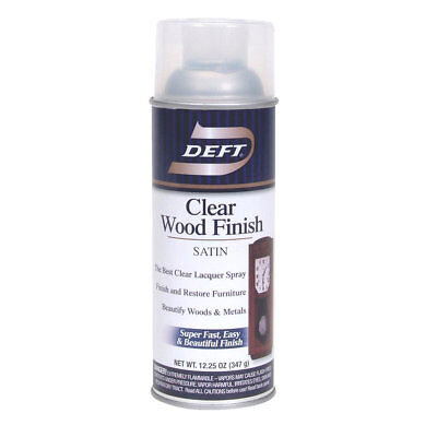 Deft Interior Clear Wood Finish Satin Lacquer with 12.25-Ounce Aerosol Spray Spray Wood Finish