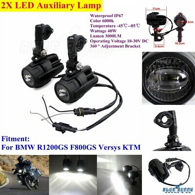 Motorcycle Fog Auxiliary Light Round Driving Lamp For BMW R1200GS F800GS Versys
