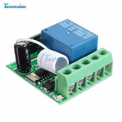 DC12V 10A 1CH 433MHZ Relay Wireless RF Remote Control Switch Receiver Module ()