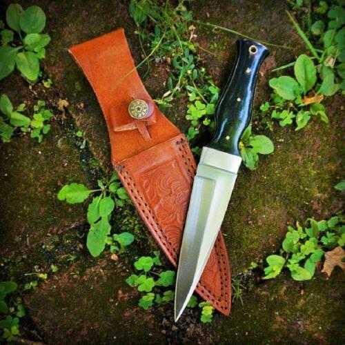 """9"""" Black Horn Handle Altar Athame Knife Dagger DH-8021HN"""