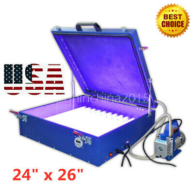 24 X 26 110v Vacuum Exposure Unit Precise Screen Printing With Compressor