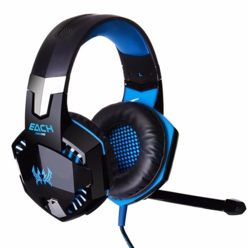 EACH 3.5mm Gaming Headset MIC LED Headphones Surround for PC Laptop PS4 Xbox One