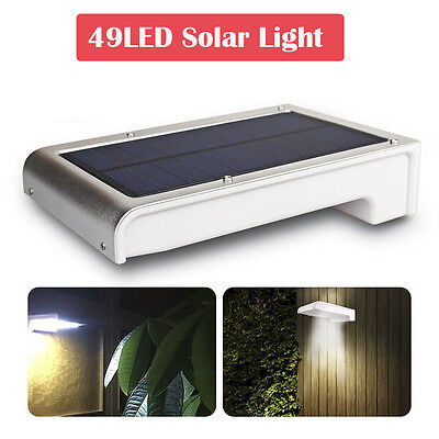 Home Garden 49 LED Solar Power Motion Sensor Yard Light Outdoor Lamp Waterproof