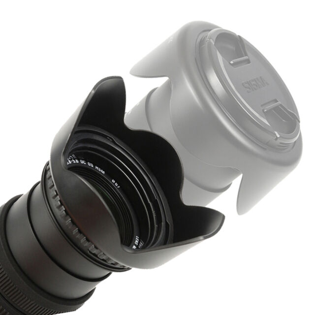 Bajonett Gegenlichtblende Sonnenblende reversible Lens Hood 55 mm