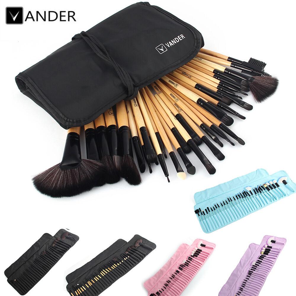 Vander 32pcs Professional Soft Cosmetic Eyebrow Shadow Makeup Brush Set Kit Case