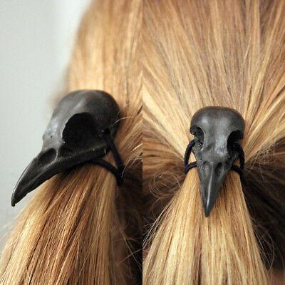Skull Headband Halloween (Halloween Punk Fancy Raven Skull Hair Tie Holder Headbands Hair)