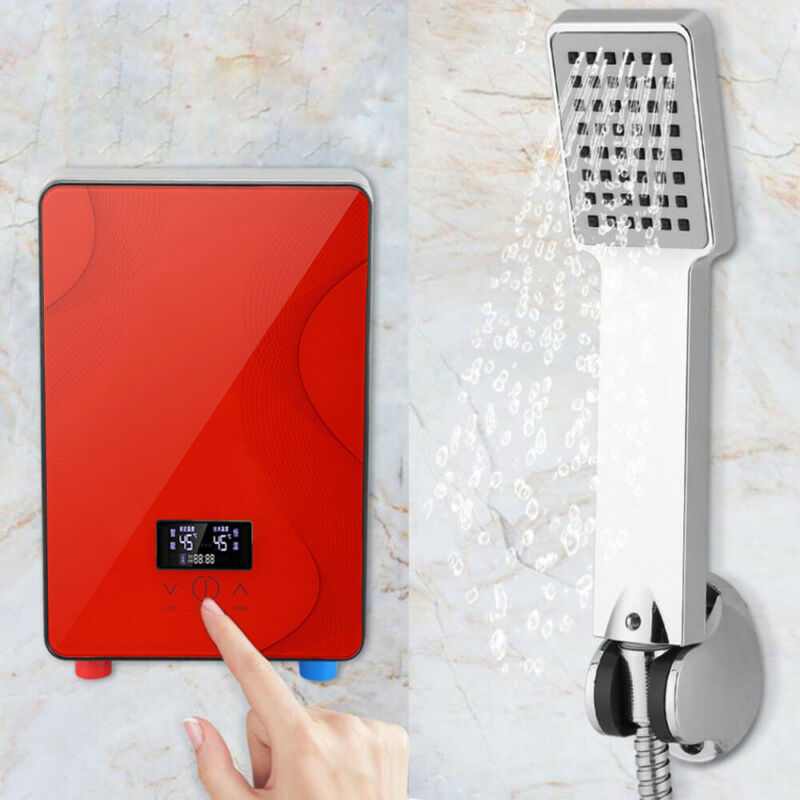 6500W Electric Instant Hot Water Heater Tankless Boiler On Demand Bath Shower