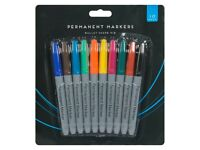 permanent pen markers (10 pack)