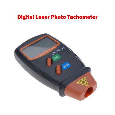Digital Tachometer Laser Photo Non Contact Rpm Tach Meter Motor Speed Gauge Us