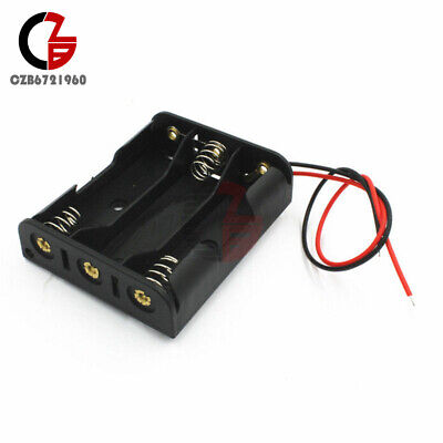 2pcs Plastic Case Battery Storage Holder Box With Wire Leads For 3 X Aa 4.5v