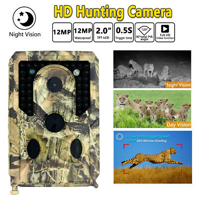 Trail Camera WiFi 12MP 1080P Wildlife Hunting Game Camera Night Vision Scouting